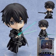 14.85$  Watch now - http://aliucg.shopchina.info/go.php?t=32746687465 - 3 Faces Anime Sword Art Online PVC Action Figure Toys Cute Nendoroid  Kirito Q Version Figures Toys Doll Collection Model Toy 14.85$ #magazine