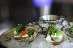 Asian Oysters on the half shell