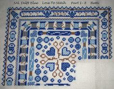 Part 1 -8 SAL Blue Love To Stitch