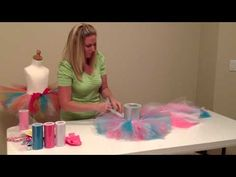 DIY No Sew Tutu Instructions by Bailey's Blossoms - YouTube