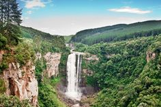 Shot of one of the 2 largish waterfalls in our area. Midland Meander, News South Africa, African Love, Kwazulu Natal, Heaven On Earth, Amazing Places, The Good Place, Travel Destinations, Scenery