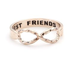BEST FRIEND Infinity Ring in Rose gold