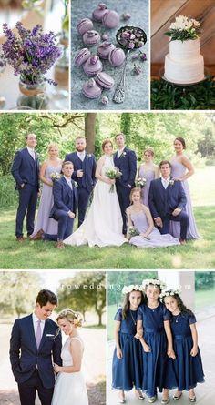 Navy Blue Wedding Theme, Lavender Wedding Colors, Summer Colors For Wedding, Lilac Wedding Themes, Lavender Weddings, Blue Weddings, Summer Weddings, Fall Wedding Bridesmaids, Lavender Bridesmaid Dresses