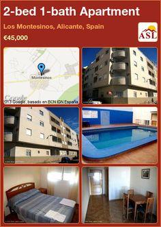 2-bed 1-bath Apartment in Los Montesinos, Alicante, Spain ►€45,000 #PropertyForSaleInSpain
