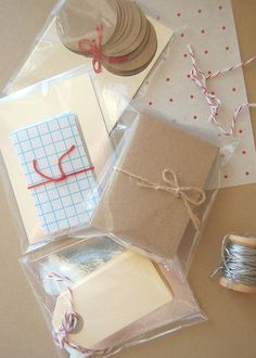 Brown Paper Packaging tied up with string!