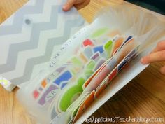 Great way to store letters - The Applicious Teacher: Pre-Cut Bulletin Board Letters to the Rescue!