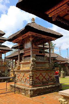 Local neighborhood temple on the way to Ubud, Bali.