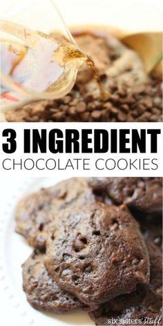 3 Ingredient Chocolate Chip Cookies!