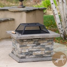 Christopher Knight Home Crestline Outdoor Natural Stone Fire Pit | Overstock.com Shopping - Great Deals on Christopher Knight Home Fireplace...
