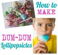 Summer | How to make Dum Dum lollipop popsicles - super easy and kids LOVE them!