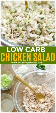 low carb chicken salad recipe easy chicken salad for lunches salad salad salad recipes grillen rezepte zum grillen Chicken Salad Recipes, Healthy Salad Recipes, Low Carb Recipes, Healthy Smoothies, Low Carb Chicken Salad, Healthy Chicken, Salad Chicken, Easy Meals, Easy Low Carb Lunches