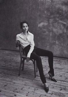 magazine: Vogue Italia May 1997 editorial: Portrait Report models: Caroline Eggert, Karen Elson, Martina Klein, Mini Anden, Missy Rayder, Natalia Semanova, Olga Otrokhova, Rebekka Botzem
