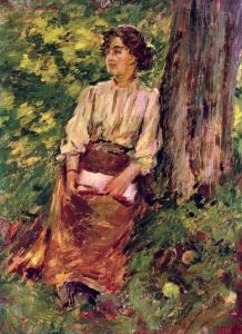✉ Biblio Beauties ✉ paintings of women reading letters & books - Theodore Robinson (1852-1896)