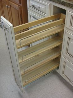 pull out spice cupboard | Quality Custom Cabinets