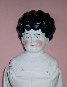 """Large 25"""" Pet Name Marion CHINA HEAD Doll W/ Newer Body China Dolls, Antique China, Pet Names, Antique Dolls, Vintage Antiques, The Creator, German, Porcelain, Pets"""