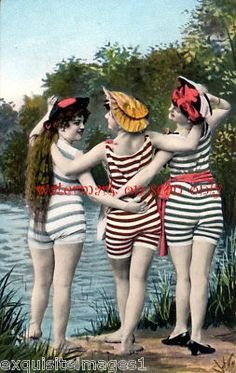 C1900 Bathing Beauty Friends Fanny Pose New Note Cards | eBay