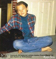Leo with Baby; his rottie.