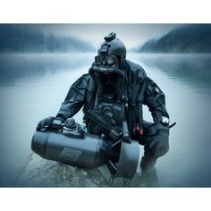 Special operations forces combat diver with underwater propulsion vehicle Canvas Art - Tom WeberStocktrek Images x Military Gear, Military Police, Military Weapons, Usmc, Marines, Military Spouse, Us Navy Seals, Military Special Forces, My Champion