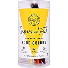Food Coloring by Supernatural, Vegan, No Artificial Dyes, Plant-Based Colors, Variety Pack Clean Recipes, Gourmet Recipes, Free Recipes, Homemade Cosmetics, Food Dye, World Recipes, Base Foods, Food Allergies, Clean Eating Snacks
