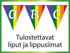 Tulostettavat liput ja lippusiimat juhliin ja tilaisuuksiin
