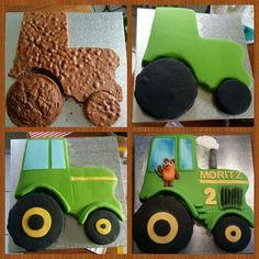 Traktor mit der Maus – von mir gemacht – – Torten – Tractor with the mouse – made by me – the – Pies – # … – cake design Tractor Birthday Cakes, Farm Birthday, Backyard For Kids, Diy For Kids, Birthday Cake Decorating, Cake Designs, Eat Cake, Tractors, First Birthdays