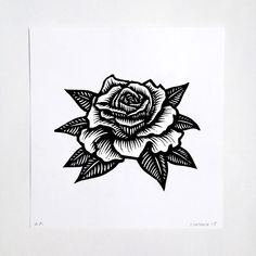 Woodcut Rose, by Justin Catania — inner fields