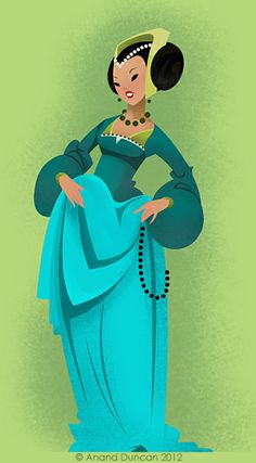 The Art of Anand Duncan: Lady in Green  Find more at https://www.facebook.com/CharacterDesignReferences