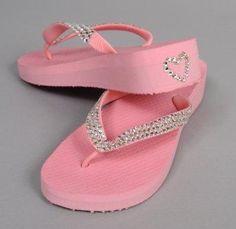 pink flip flops - Swarovski Crystal Flip Flops