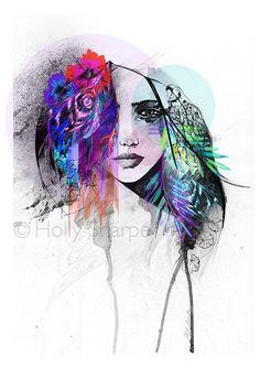 Aisha // LIMITED EDITION Giclée print  fashion by hollysharpe