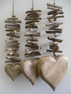 hanging wooden heart - Google Search