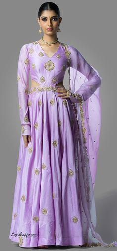 Lavender Cutout Gown, Shilpa Reddy - Lux Shoppe – LuxShoppe.com