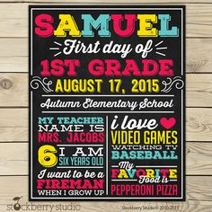 Items similar to First Day of Playschool Sign Printable - Day of Playschool Sign - First Day of School Chalkboard Sign - Day of School Sign on Etsy School Grades, 1st Day Of School, School Days, Back To School, School Chalkboard, Chalkboard Poster, Kindergarten First Day, Preschool Kindergarten, School Signs