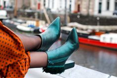 feathers booties trend polka-dots skirt