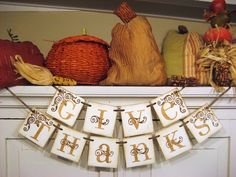 paper fall banners | Dishfunctional Designs: Giving Thanks: Thankful Decor & Family Customs
