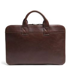 Frances Slim Portfolio in Titan Milled Brown #mooreandgiles #leather #bags #portfolio #work #graduationgifts