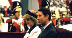 2 may 1986 day three official opening of Vancouver Expo (Diana in black and white with headband style hat) that evening spent at Orpheum for world festival of the arts contemporary music night (Princess in black and blue)