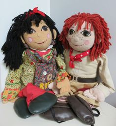 ROSIE AND JIM  LARGE  SOFT TOYS RAG DOLLS 30 inches tall RAGDOLLS Canal Boat, Doll Clothes, Rag Dolls, Toys, Anime, Fictional Characters, Fabric Dolls, Activity Toys, Cloth Art Dolls