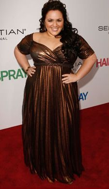 Yuliya Raquel designed this custom couture gown for Nikki Blonsky for the premier of 'Hair Spray'