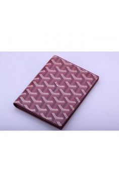 Goyard Passport Case Burgundy
