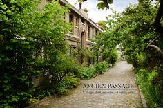 Ancien passage du village de Grenelle. Ancien passage du Village de Grenelle, aujourd'hui cour intérieure protégée  75015 Paris