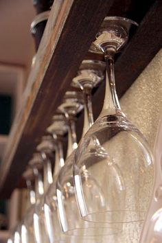 DIY Wine Glass Rack. This would''ve been damn handy to know when I was at Lowe's earlier