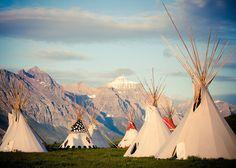 Blackfeet tipi's Saint Marys Lake Glacier National Park. Tony Bynum