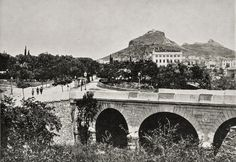 Robert E.M.Bain .Αθήνα, γέφυρα στον Ιλισσό ποταμό, η απέναντι οδός Ηρώδου Αττικού, 1890's