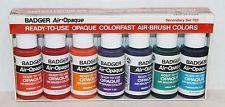 NIP Badger Air-Opaque Air-Brush Airbrush Paint Colors Secondary Set 702 ~ NEW