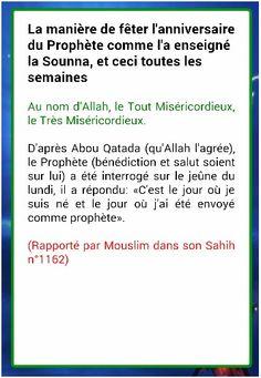 anniversaire islam hadith
