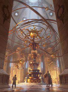 Fantasy City, Fantasy Castle, Fantasy Places, Fantasy World, Fantasy Art Landscapes, Fantasy Landscape, Fantasy Concept Art, Fantasy Artwork, Anime Art Fantasy