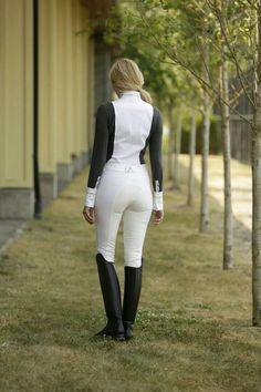 Lauria Garrelli Queens dentelle Competition Shirt-élégant équitation équestre