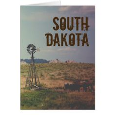 Old West South Dakota Card