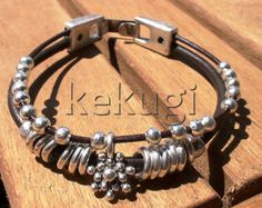 Hey, I found this really awesome Etsy listing at https://www.etsy.com/listing/87517618/women-brown-leather-bracelet-with-silver
