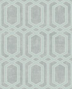 Wallpaper Modern Geometric Link Trellis Lattice Light Gray on Silver Dark Gray Grey Wallpaper, Modern Wallpaper, Geometric Wallpaper, Wallpaper Ideas, Soho, Washable Wallpaper, Iron Work, Trellis, Interior Styling